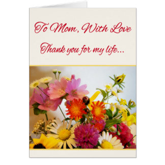 To Mom, With Love Card