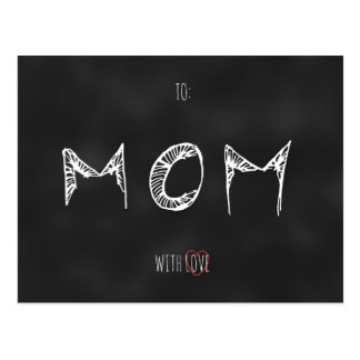 To Mom With Love Postcard