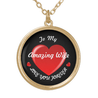To My Amazing Wife Heart Necklace