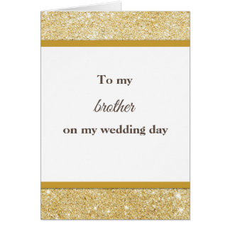 To my brother wedding thank you card