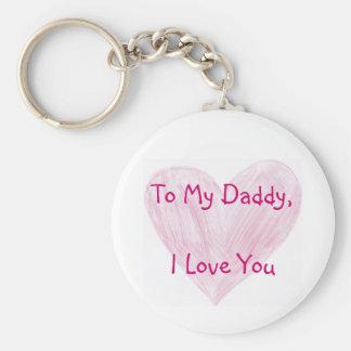 To My Daddy Keychain