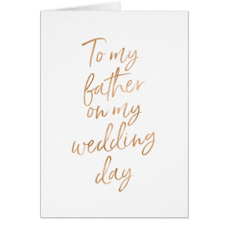 To my father on my wedding | Stylish Gold Rose Card