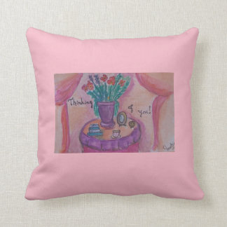 to my friend throw pillow
