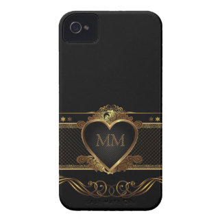 To My Heart Love Luxury Golden Blackberry Bold iPhone 4 Case-Mate Case