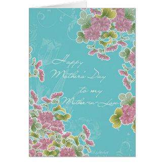 to my Mother-in-Law, happy Mother's day, flowers Card