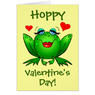 To My Prince Hoppy Valentines Frogs Cute Romantic Card