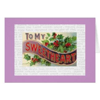 To My Sweetheart Card