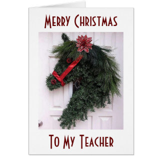"""TO MY """"TEACHER"""" AT CHRISTMAS=SPECIAL MEMORIES GREETING CARD"""