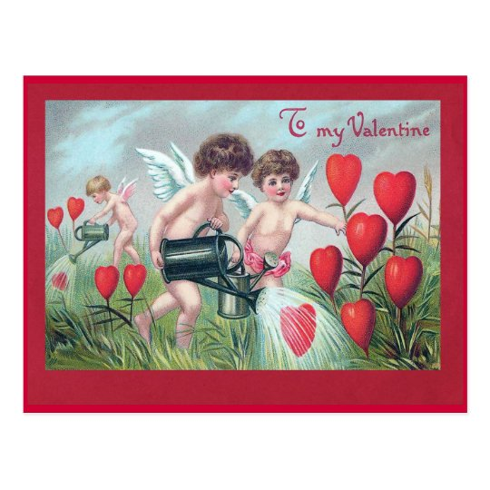 """To my Valentine"" Vintage Postcard"