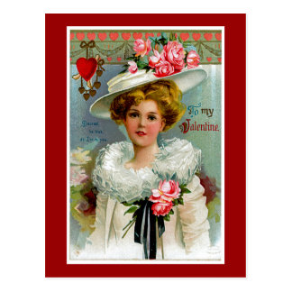 To My Victorian Valentine Postcard