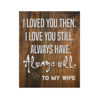 "To My Wife Canvas 12"" x 12"", 1.5"", Single"