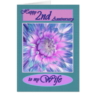 To My Wife - Happy 2nd Anniversary Card