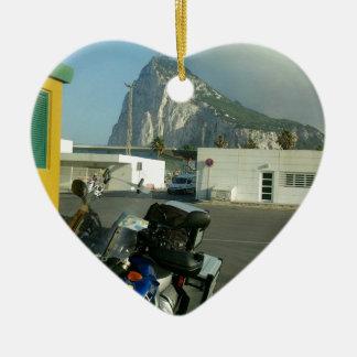 To North Cape (Norway), via Gibraltar. Ceramic Heart Ornament