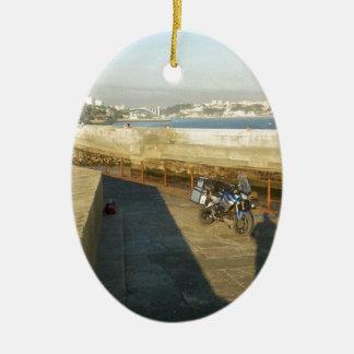 To North Cape (Norway), via Gibraltar. Ceramic Oval Ornament