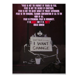 To obtain peace is to change - Customized Poster