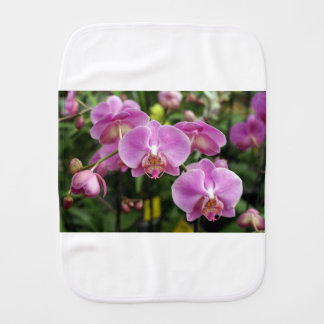 to orchid_fresh_flower burp cloth