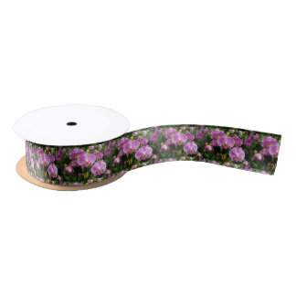 to orchid_fresh_flower satin ribbon