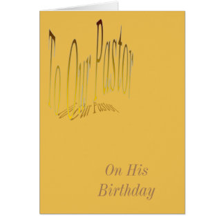 To Our Pastor. Card