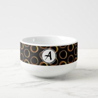 To pave Eclipse Mid-Century Modern Black & Gold Soup Mug
