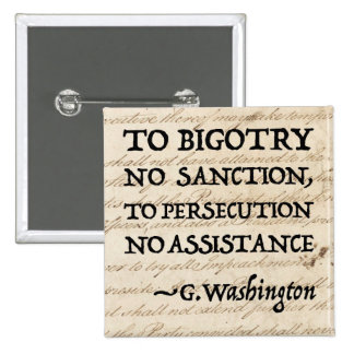 To Persecution No Assistance 2 Inch Square Button