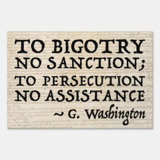 To Persecution No Assistance 36x24 Sign