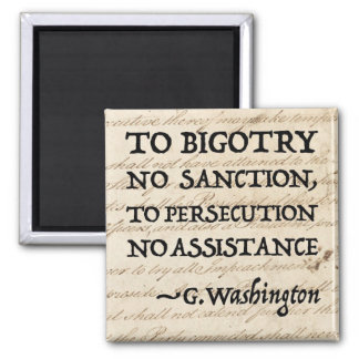 To Persecution No Assistance Square Magnet
