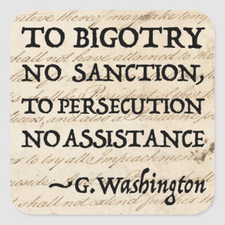 To Persecution No Assistance Square Sticker