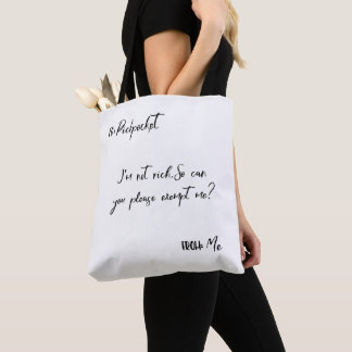 To Pickpocket Bag - Quotes in Tee's