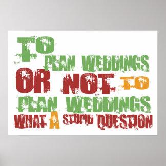 To Plan Weddings Poster