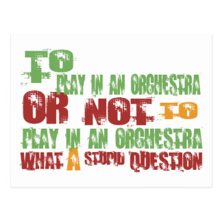 To Play in an Orchestra Postcard
