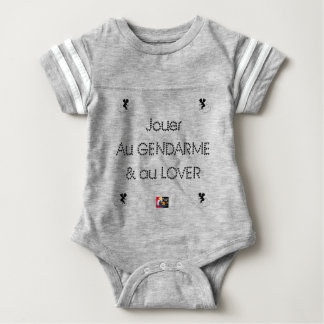 To play the GENDARME and COILING - Word games Baby Bodysuit