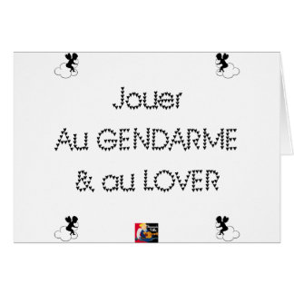 To play the GENDARME and COILING - Word games Card