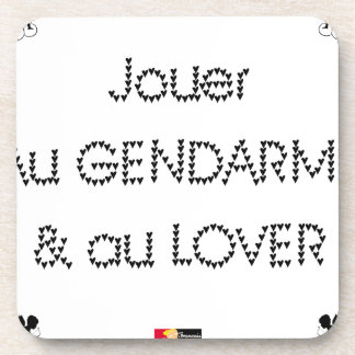 To play the GENDARME and COILING - Word games Coaster