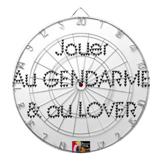 To play the GENDARME and COILING - Word games Dartboard