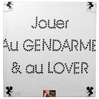 To play the GENDARME and COILING - Word games Napkin