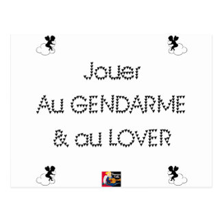 To play the GENDARME and COILING - Word games Postcard