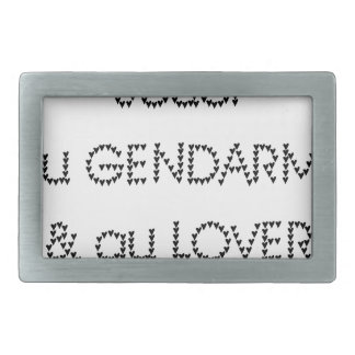 To play the GENDARME and COILING - Word games Rectangular Belt Buckle