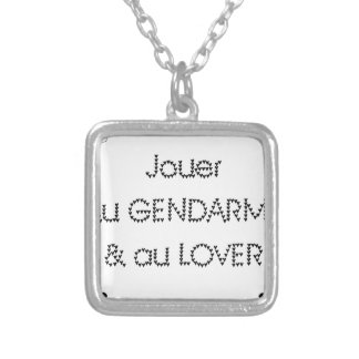 To play the GENDARME and COILING - Word games Silver Plated Necklace