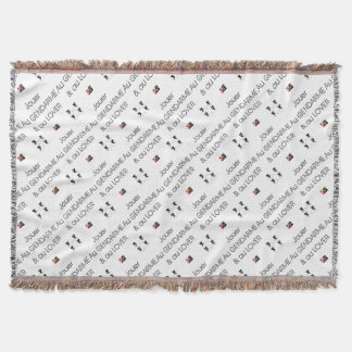 To play the GENDARME and COILING - Word games Throw Blanket