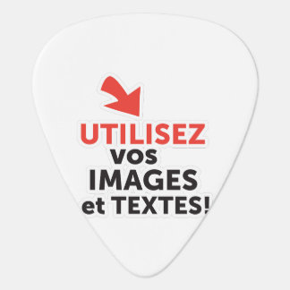 To print your designs in French line DIY Guitar Pick