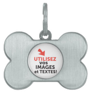 To print your designs in French line DIY Pet ID Tag