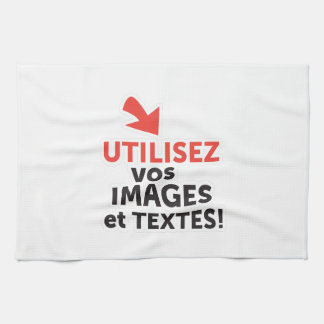 To print your designs in French line Kitchen Towel