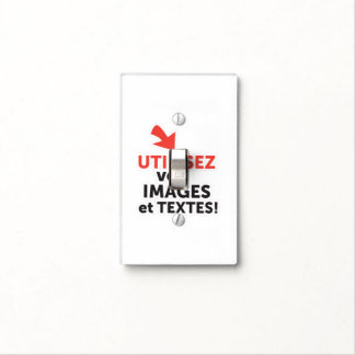 To print your designs in French line Light Switch Cover