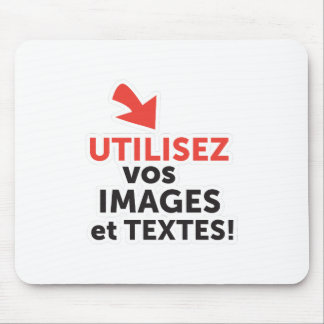 To print your designs in French line Mouse Pad