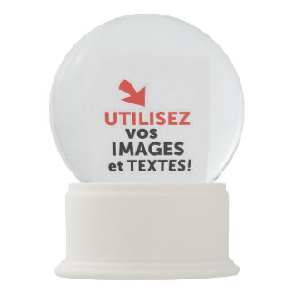 To print your designs in French line Snow Globe