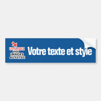 To print your designs in line DIY in French Bumper Sticker