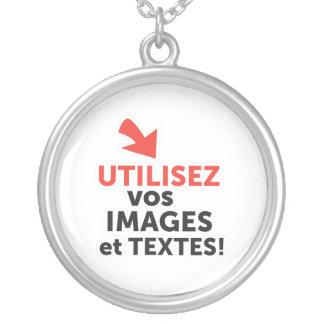 To print your designs in line DIY in French Silver Plated Necklace