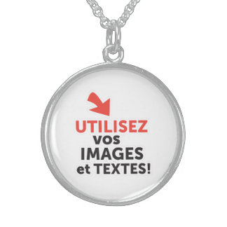 To print your designs in line DIY in French Sterling Silver Necklace