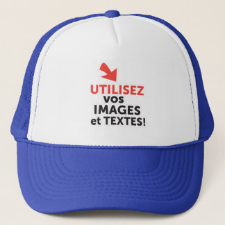 To print your designs in line DIY in French Trucker Hat