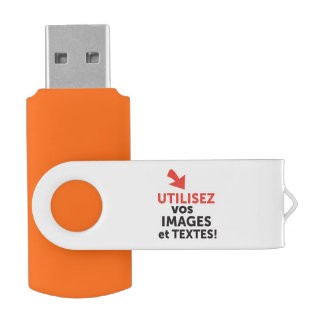 To print your designs in line DIY in French USB Flash Drive